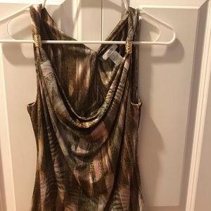 Cache Tops - NWOT Cache brownish pink and gold dressy tank top